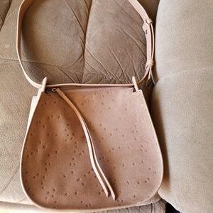 Small All Saints star embossed shoulder bag